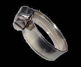 Schneckengewinde-Schlauchschelle DIN 3017, Form A für 12mm Bandbreite (Band u. Gehäuse aus Edelstahl