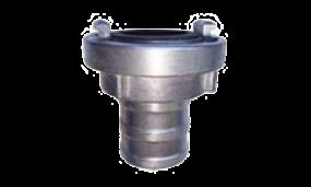 Saug- und Druckkupplung mit langer Schlauchtülle (Aluminium mit Dichtung Nitril-Kautschuk schwarz)