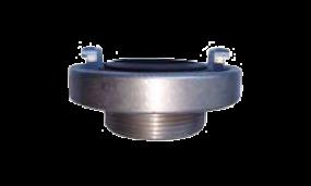 Festkupplung mit Außengewinde (Aluminium mit Dichtung Nitril-Kautschuk schwarz)