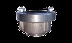 Druckkupplung mit kurzer Schlauchtülle (Aluminium mit Dichtung Nitril-Kautschuk schwarz)