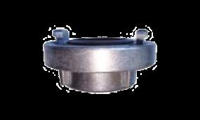 Festkupplung mit Innengewinde (Aluminium mit Dichtung Nitril-Kautschuk schwarz)
